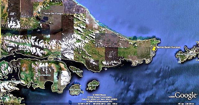 Bahía Buen Suceso en Tierra del Fuego