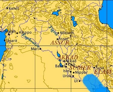Mapa antiguaMesopotamia