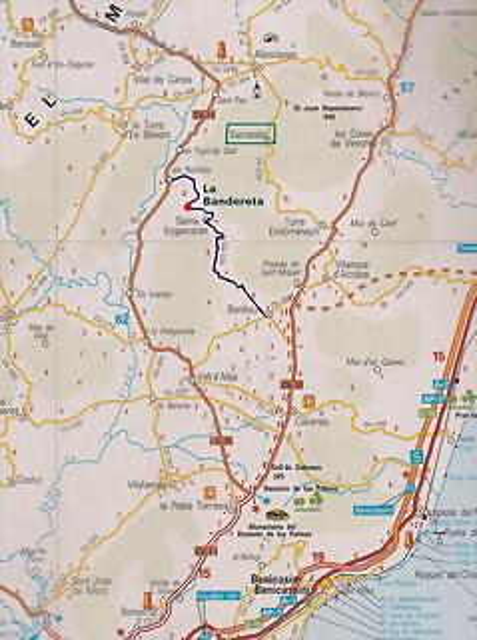 mapa Bandereta