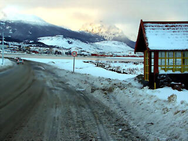 Doble Avenida Maip� en Ushuaia, Tierra del Fuego
