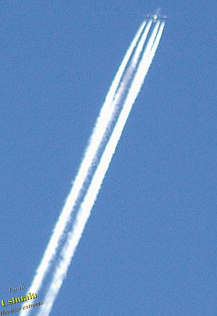Avión a chorro en Ushuaia