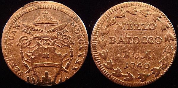 Sede vacante 1740 mezzo baiocco