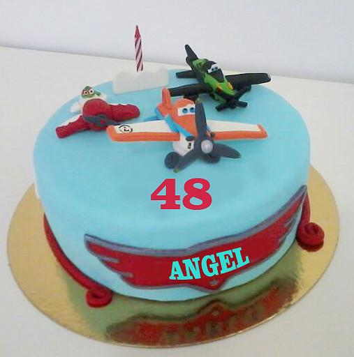 Aviones tarta fondant copia