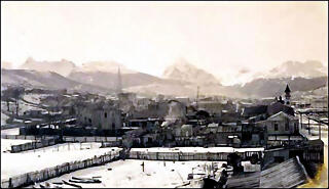 Ushuaia antigua, Maip� y Parroquia