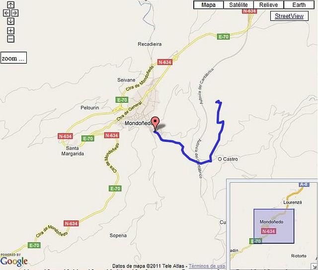 Monte Padornelo por Pasatempo mapa