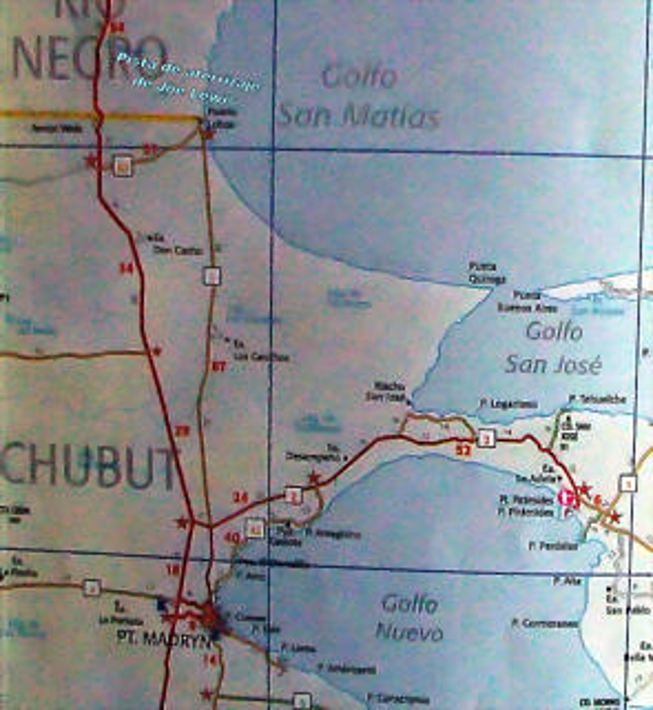 Mapa Puerto Lobos, R�o Negro