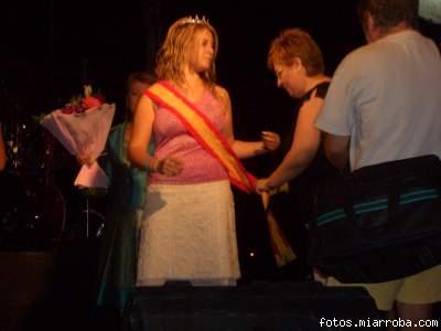 Coronación  Miss Turismo Fiestas  Agosto 2006