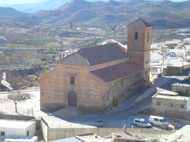 Vista Iglesia Gérgal desde el Castillo
