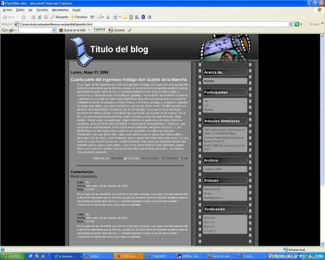 Plantilla CINE del blog