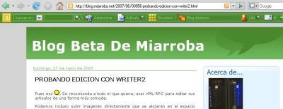 Nueva barra miarroba en servicio de blogs