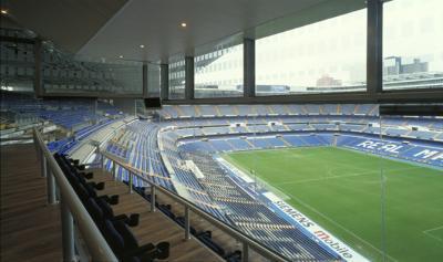 Un estadio vacío