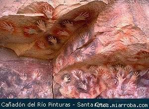 Cañadon del Rio Sur de  Argentina