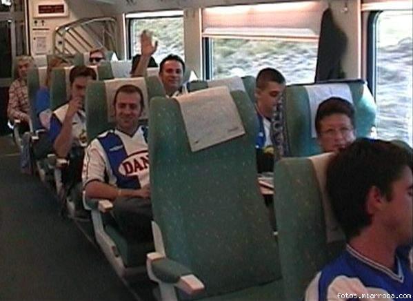 En el tren iniciant un gran dia