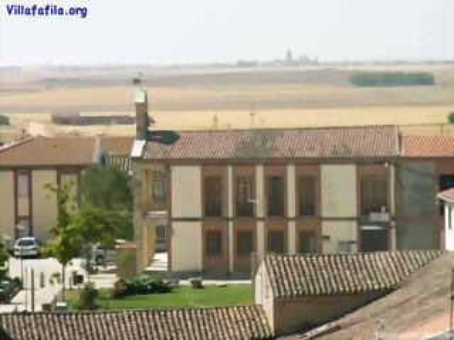 Vista del Ayuntamiento desde el campanario de la Igesia de Santa Maria