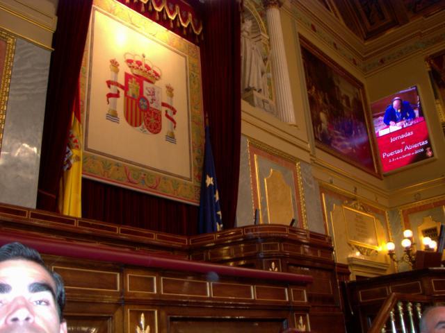 Tribuna de oradores del congreso de los diputados.