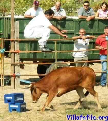 Espectacular salto de la Vaquilla