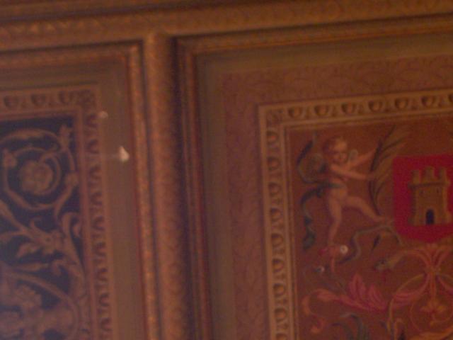 techo del congreso con los tiros de Tejero.