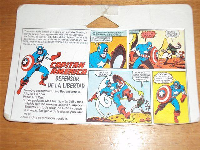 Ficha e historieta Capitán América