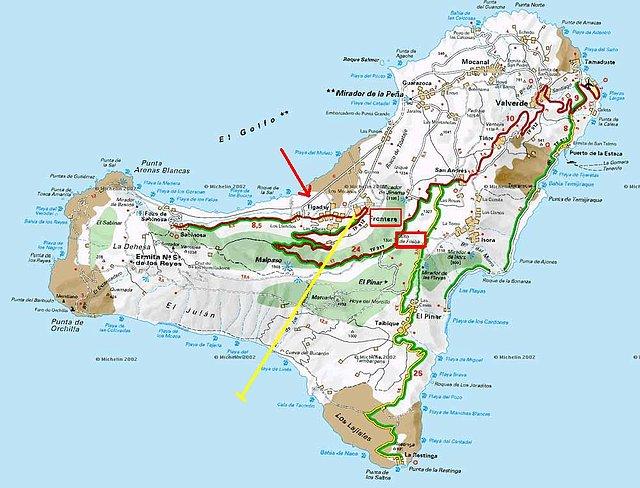 mapa hierro