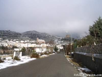 Vista Gérgal desde Barrio Pilanos nevada 06