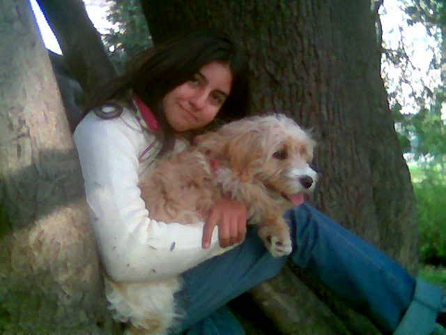 mi perrita Luna y yo