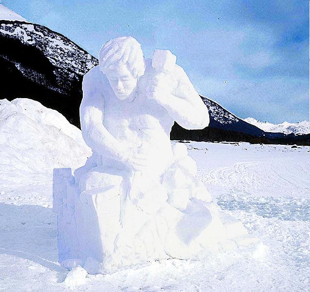Escultura de nieve, Tierra del Fuego01