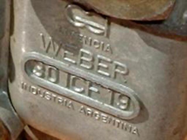 carburador con marca Weber fabricado por Caresa en Argentina.jpg  2