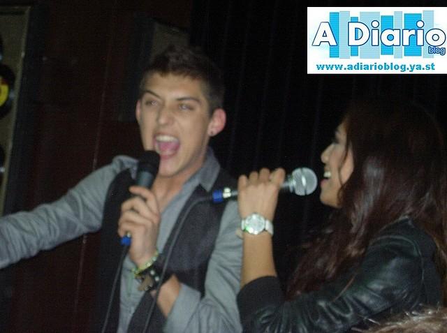 Nahuel y Alexandra en su primera actuación tras OT