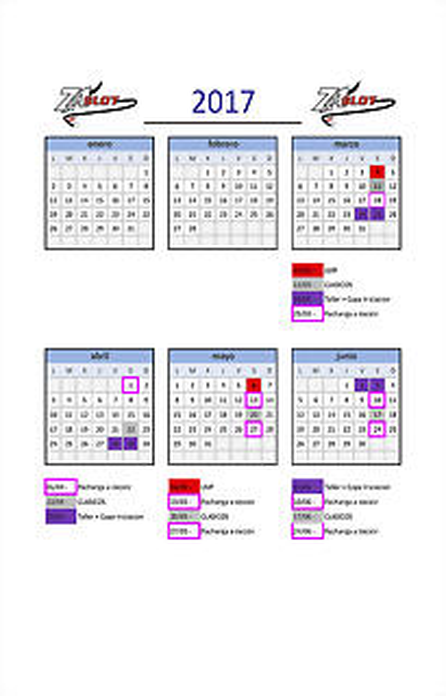 calendario-2017 ZASLOT