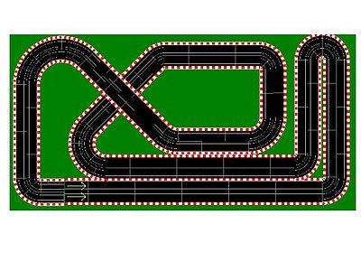 Diseño pista ninco 4 carriles en 6x3 mts.
