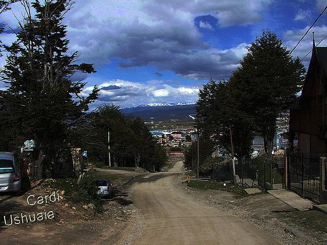 Desde la calle Marcos Zar en Ushuaia
