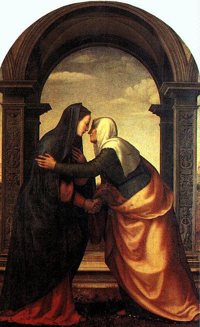 Saludo entre María Santísima y Santa Isabel