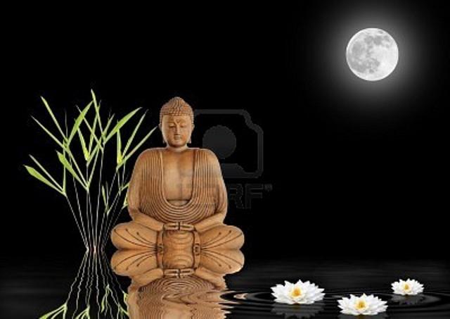 4738573-buda-con-la-hierba-de-hojas-de-bambu-y-lirios-blancos-de-loto-con-la-reflexion-sobre-el-agua-ondulad