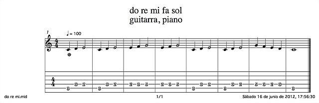 doremifasol guitarra piano