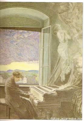 Beethoven ,tocando el piano