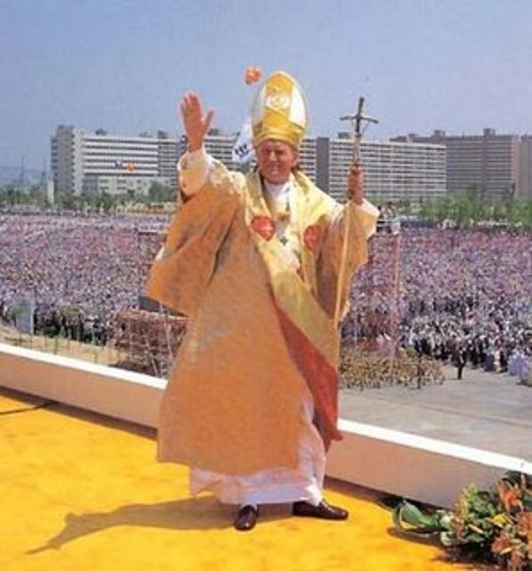 Juan Pablo II y jovenes