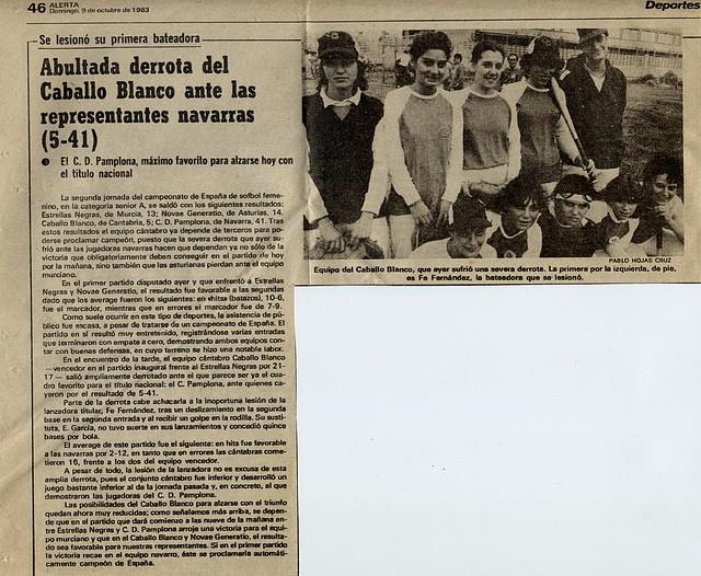 1983.10.09 Campeonato España A sófbol