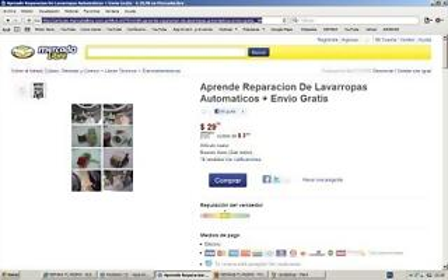mercado libre ESTAFA CURSO DE LAVARROPAS LAVADORAS