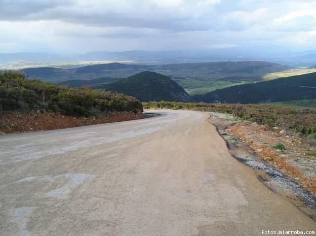 Zona del aparcamiento del Mirador de Orellán