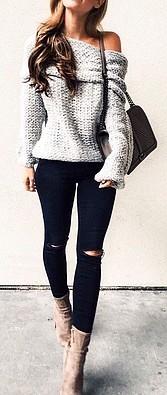 Moda joven Mujer Pantalones Vaqueros Negros Rotos