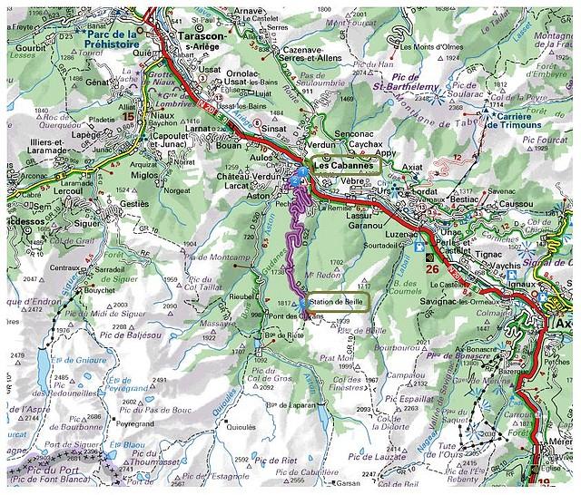 mapa de Plateau de Beille