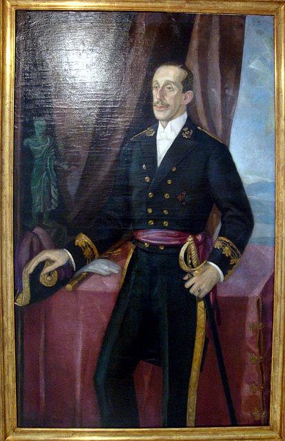 El rey Alfonso XIII pintado por Vazquez Diaz.