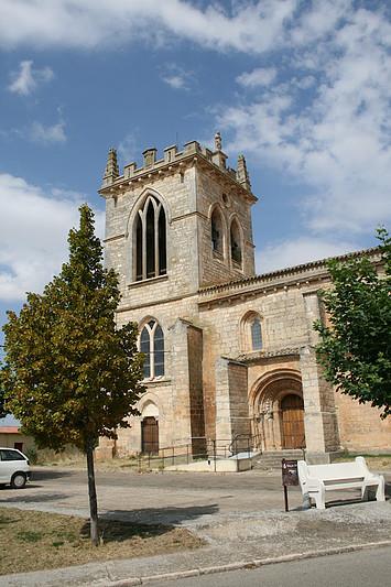Burgos VILLADIEGO (BURGOS) IGLESIA DE SAN LORENZO.ORIGINARIAMENTE ROMANICA .REHECHA EN GOTICO EL S.XIV
