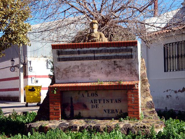 Monumento a los artistas de Nerva.