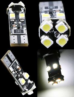 T10 Canbus Tower 8 Led 3528 SMD 12v
