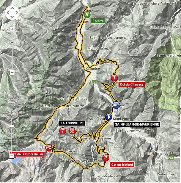 tour 2015 etapa 19 map