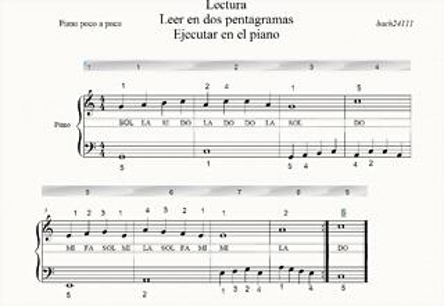 LEER DOS PENTAGRAMAS BACH24111