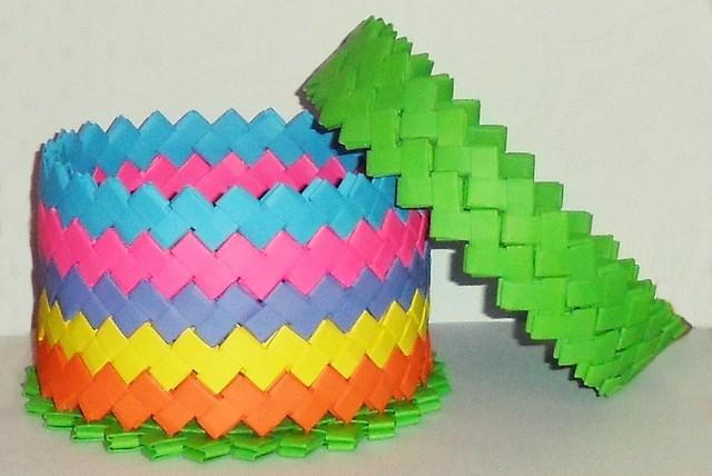 Caja Grande Multicolor + Tapa