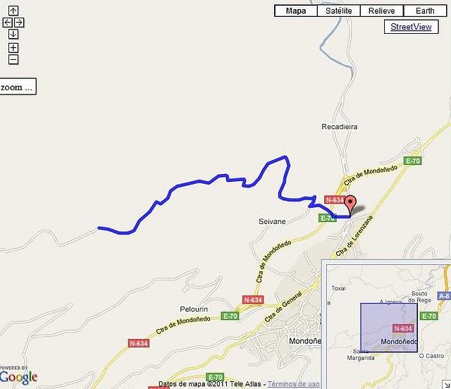 Atalai por Mondoñedo mapa