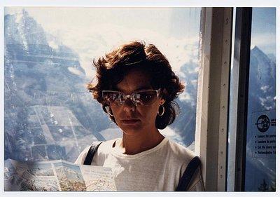 Rosa en teleférico de Chamonix